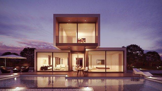 dům, prostor, přepych